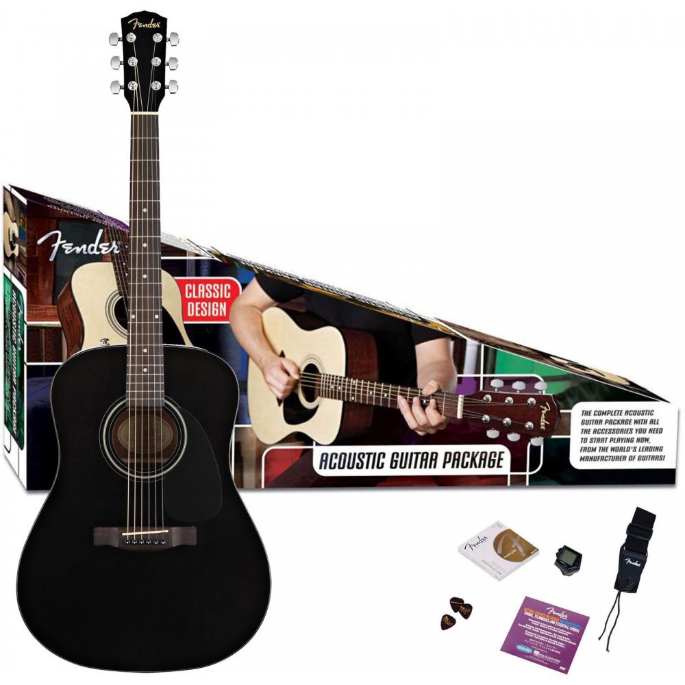 #1 Gitarrpaket FENDER CD-60 SVART