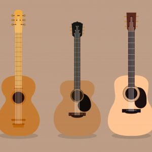 Akustiska gitarrer ¾ storlek (8 - 12 år)