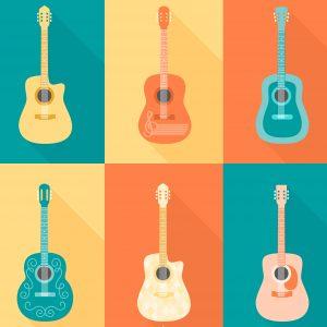 Akustiska gitarrer ½ storlek (5 - 8 år)