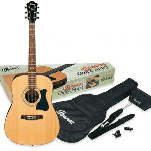 Ibanez V50NJP-NT jampack Westerngitarren set naturlig
